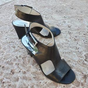 Michael Kors T-strap Peeptoe Wedge Sandals 7